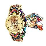 Bonjouree Bracelets Femmes Montres Vintage Faits à La Main Pour Cadeau d'amis (H)