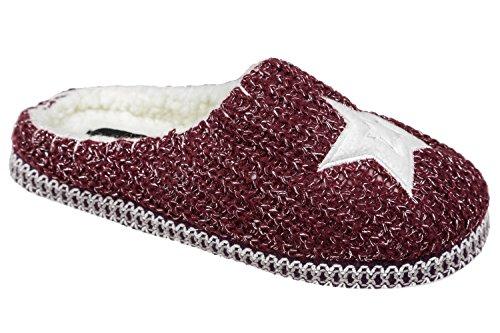 Pantofole Da Donna Con Gibra®, Bordeaux, Misura 37/38 - 41/42 Bordeaux