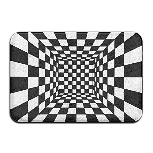 ECXAQLBRL Trippy Checkerboard Room Home Doormat Floor Mat Non-slip (Slip Checkerboard)