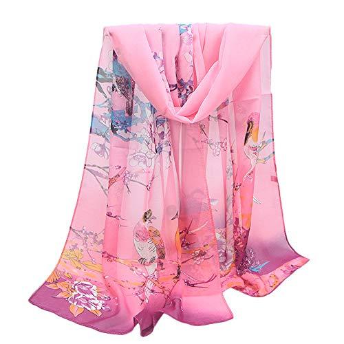 Halstücher Umschlagtücher, BaZhaHei Damenmode Jacquard Baumwolle Pariser Streifen Schal weichen Strandtuch Schal Weiche Blumen Pfau Printed Lange Schals Stola Modeschal -
