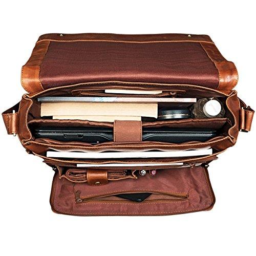 54fd4087da0d38 ... STILORD 'Erik' Borsa per PC 15.6 pollici vintage in pelle Messenger a  tracolla a ...