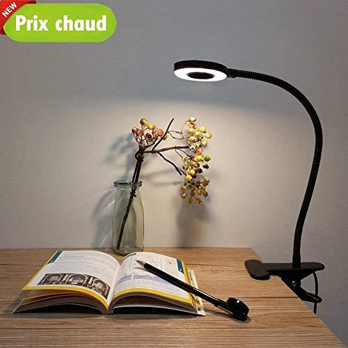 Lypumso Lampe de Bureau à LED, Lampe de Lecture, Lumière Froide/Chaude Réglable 2 Modes,...