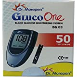 Dr. Morepen BG-03 Blood Glucose Test Strips, 50 Strips (Black/White)(Only Strips, No Glucometer)