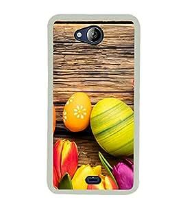 Ester Eggs 2D Hard Polycarbonate Designer Back Case Cover for Micromax Canvas Play Q355