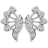 Myzevar 14K White Gold and Diamond Alina Stud Earrings best price on Amazon @ Rs. 18362