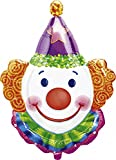 Anagram 0766101 - Party und Dekoration - Folienballon Super Shape - Clown, circa 63 x 83 cm