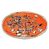 LEADSTAR Segeltuch Kinder Spielmatte Aufräumsack Spieldecke Spielzeug Speicher Tasche 150cm - Orange