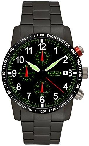 Astroavia Herren-Armbanduhr Chronograph Quarz N67BS-10ATM