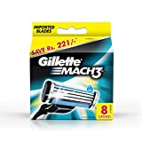 Gillette Mach3 Brand New Blades/cartridges 100% Genuine - 8 blades
