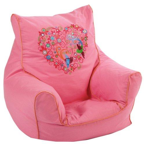 knorr-baby 450165 Kindersitzsack bird-flowers, rosa