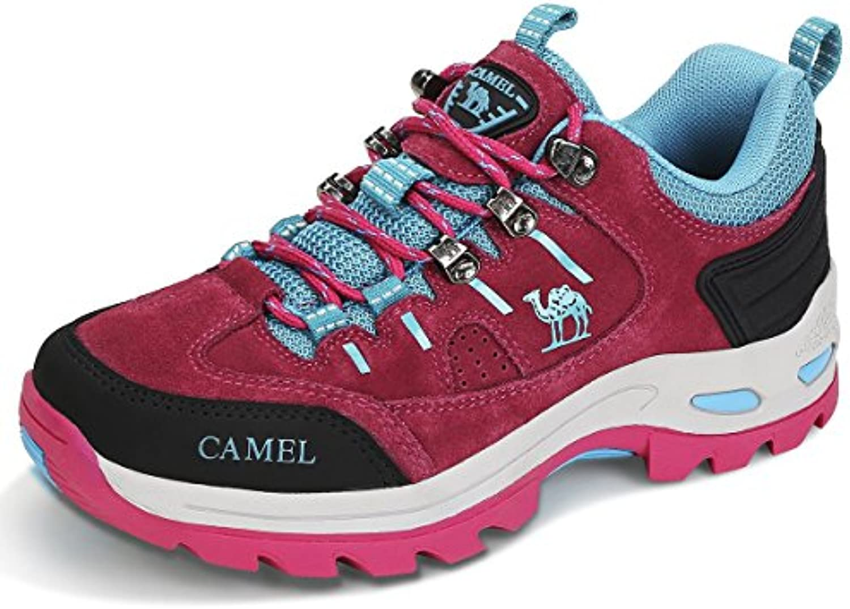 CAMEL CROWN Zapatos de Senderismo para Mujer Zapatillas de Escalada Calzado de Ante para Alpinismo, Zapatos de...