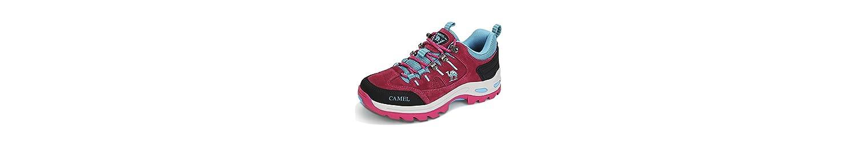 CAMEL CROWN Zapatos de Senderismo para Mujer Zapatillas de Escalada Calzado de Ante para Alpinismo, Zapatos de... -