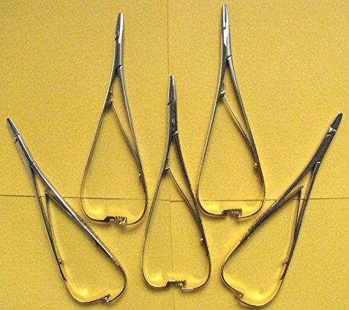5 Teilen,Chirurgische Nadelhalter Mathieu 17CM+Nadelhalter Mathieu RYDER gerade 17.Wir Verkaufen und Verrechnen laut § 19, ohnen MwSt.
