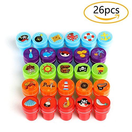 raten, 26 Stück Stempel für Kinder, Bunt ()