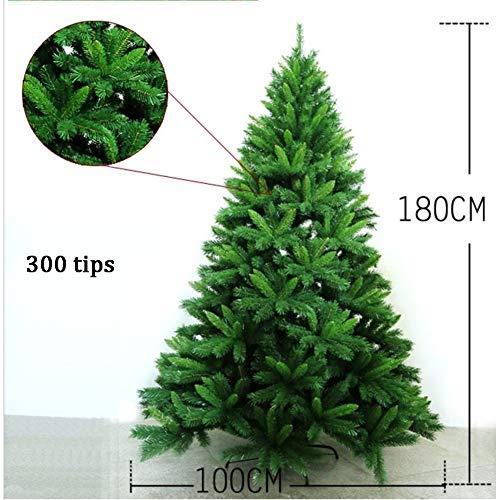 Dw&hx verde porta a battente albero di natale facile da montare spenta supporto in metallo crittografato alberi di natale artificiali decorazione di natale -a 120cm(47inch)