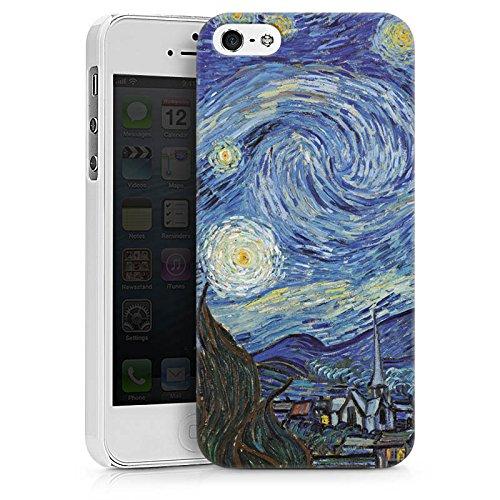 Apple iPhone X Silikon Hülle Case Schutzhülle Vincent van Gogh The Starry Night Kunst Hard Case weiß