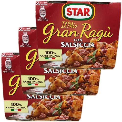 3x Star Il mio Gran ragù 'Con Salsiccia', 2 x 180g Unbekannte Star