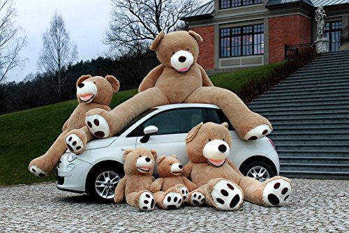 Teddybär groß XXL 260cm Gefüllter Riesen Plüschbär Stofftier Plüschtier, Geschenk, Teddybär Spielzeug Puppe Weiches Plüsch Kinder Freundin Geschenk hellbraun