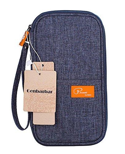 Genbagbar Passport Wallet Deckelhalter Travel Card Bargeld Dokumente Organizer (Grau) (Wallets Travel Orange)