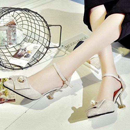 RUGAI-UE Estate sandali Tacchi Alti Calzature Donna Beige