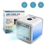 Mini Luftkühler Mobile Klimageräte Air Cooler mit Wasserkühlung Zimmer Raumentfeuchter Mini Klimaanlage ohne Abluftschlauch für Wohnung von Suzada