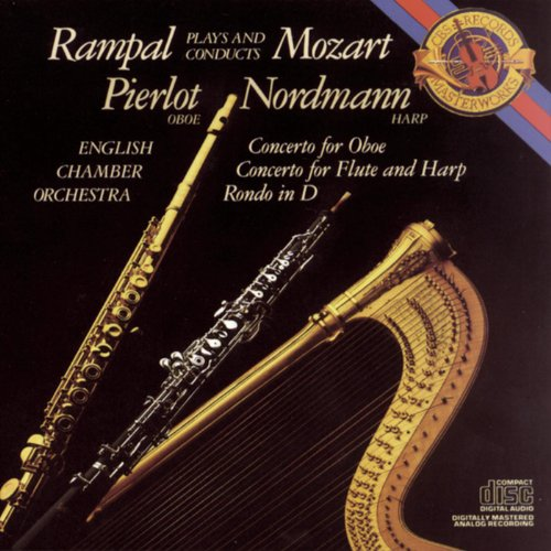 Mozart: Concerto for Flute, Harp and Orchestra in C Major, K. 299; Concerto in C Major for Oboe and Orchestra; Rondo in D Major for Flute and Orchesta