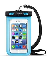 Funda Impermeable Móvil Luxebell Carcasa Teléfono Universal Impermeable 25m IPX8 para Apple iPhone 6S 6,6S Plus, 5S 7, Samsung Galaxy S7, S6 Note 5 4, HTC LG Sony Nokia Motorola (Azul)