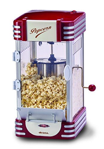 Ariete Party Time Máquina de palomitas XL, 310 W, 2.4 l Rojo, Color blanco