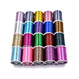 20 Spulen Multi Farben Flash Tinsel Fliegenbinden faden Angeln Binden Materialien