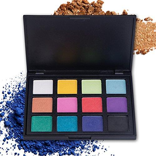 Palette de Fard à paupières, FantasyDay 12 Couleurs Professionnelle Shimmer Matte Ultra Pigmenté Bases de Ombre à paupières Maquillage Palette Cosmétique Set - Eyeshadow Makeup Beauty Kit #2