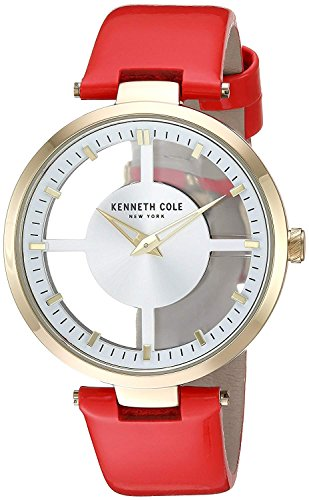 Kenneth Cole Womens Analogue Quartz Watch with Leather Strap KC15004018