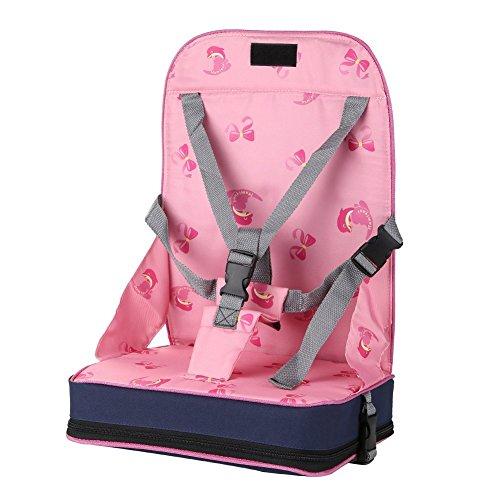 GudeHome Tragbar Boostersitze Faltbare Säugling Sitzerhöhungen Einstellbar Baby-Booster Kinder Reisesitz