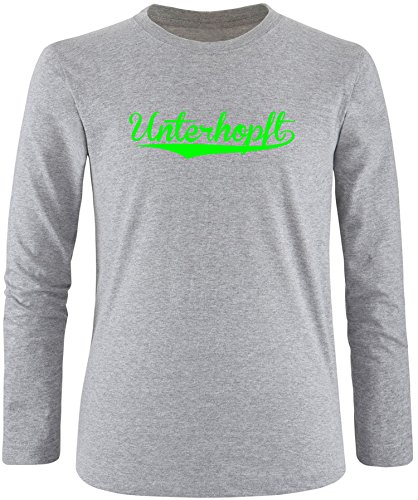 EZYshirt® Unterhopft Herren Longsleeve Grau/Neongrün
