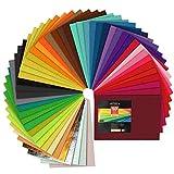 ARTEZA Fogli in Feltro Colorato, 50 Fogli A4 21x30 cm, Pannolenci Rigido da 1,5 mm, Ideale per Lavoretti e Idee Creative