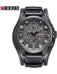 Banbie8409 Reloj Multifuncional Curren 8825 Men Big Dial con Esfera, Reloj de Cuarzo (Gris