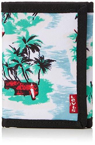 Levi's Herren Hawaiian Print Trifold Wallet Münzbörse, Grün (Medium Green), 1x12x9 centimeters (Grün Tri-fold Wallet)