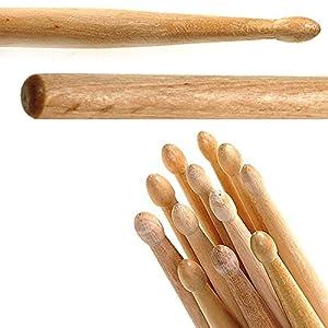 12 Drum Sticks (6 pairs) 5A Drumsticks Maple High Quality Wood [ARTUROLUDWIG] by ArturoLudwig