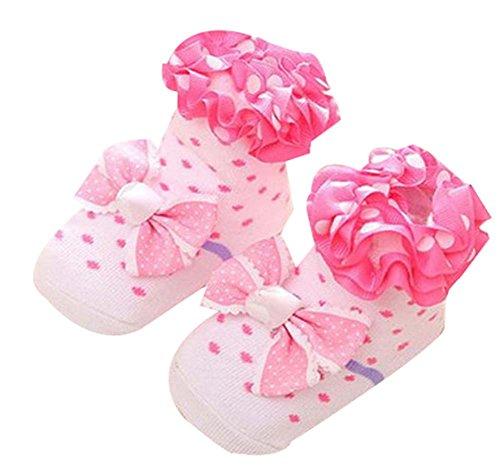 0-1 Jahre Alt Neugeborenes Baby-Spitze-Socken Stereo-Socken Fußboden-Socken (Trumpette Baby-mädchen)