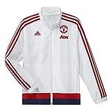 adidas Herren Fußballjacke MUFC PRE Jacket Y, Schwarz/Weiß, 140, 4055014971125