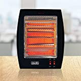 2 Bar Rectangular Portable Halogen Electrical Heater Quartz Electric Home Office Upright Energy
