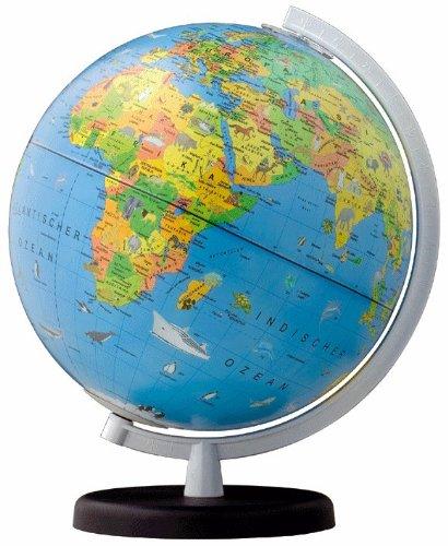 Unbekannt Columbus Kinder-Leuchtglobus Terra D 260 mm mit Begleitheft Globus mit Licht und Einem Begleitbuch für Kinder, Weltkarte