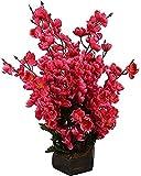 #10: Sofix Artificial Orchid Flower Pot Peach Blossom Flower Pot - 40cm (Red)