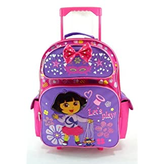 51tZohDrfAL. SS324  - Full Size Let's Play Dora La Exploradora Rolling Mochila - Dora Maleta con Ruedas