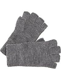 caripe Handschuhe Strickhandschuhe fingerlos Damen Herren - figa33