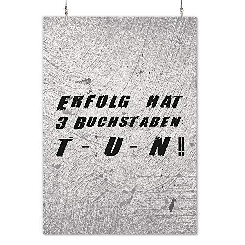 HAPPY FREAKS Poster 'Tun' DIN A2 - Motivations-Wandbild - Plakat ohne Rahmen - Bilder und Dekoration