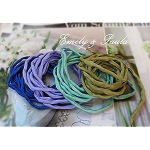 1 Seidenband Habotai Farbwahl Seidenkette für Ketten und Armbänder Khaki mint Lavendel blau Festival Hippie