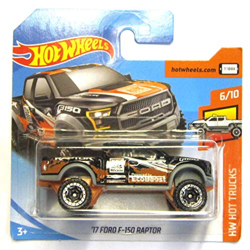 Hotwheels FJY54 - 2017 Ford F-150 Raptor schwarz / orange (HW Hot Trucks 6/10) (Ford F150 Raptor)