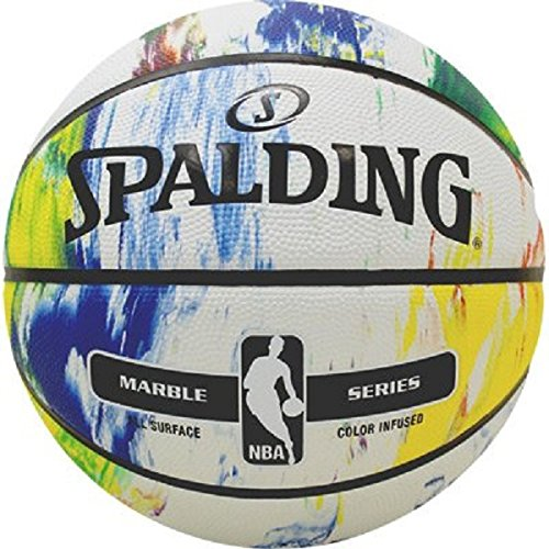 Spalding NBA Marble Mc Outdoor Ball Basketball, Mehrfarbig, 5