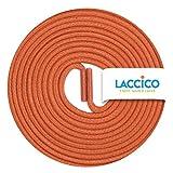 LACCICO Finest Waxed Laces Durchmesser 2 mm Runde Dünne Elegante Gewachste Schnürsenkel Farbe: Orange Länge: 75 cm