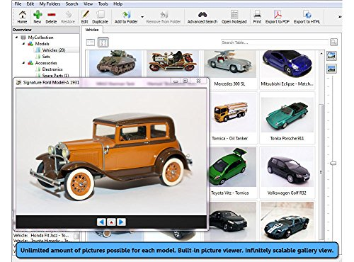 Image of Collecting Software: Stecotec Model Car Collector Pro: Inventory Program for Your Diecast Collection - Management for Models and Accessories (suitable for Airfix, Corgi, Welly, Matchbox, Hot Wheels, Dinky, Schuco, Revell, Franklin Mint etc.)